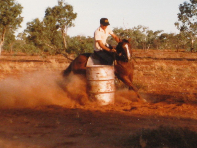 Neville Barrel Racing on Red Light