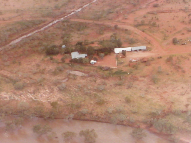 Ooratippra Station Homestead from the air
